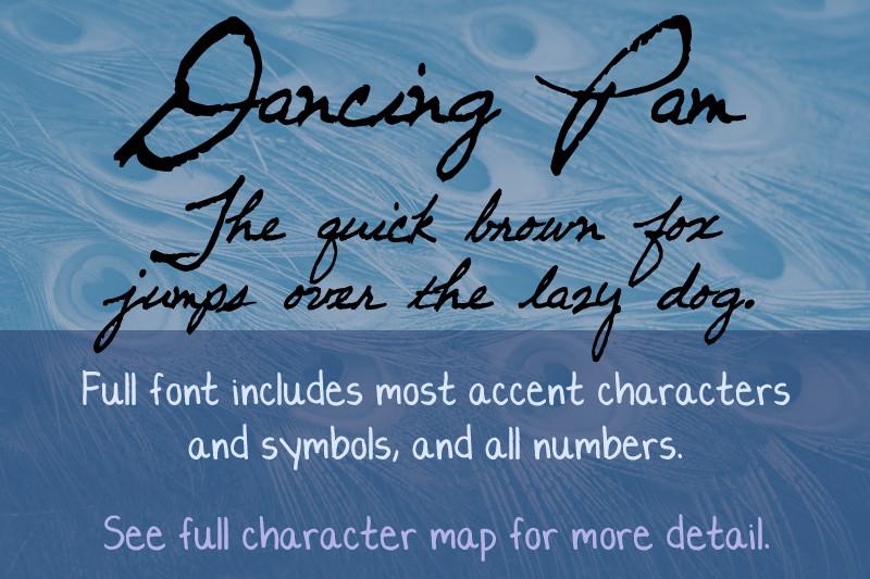 Dancing Pam Font