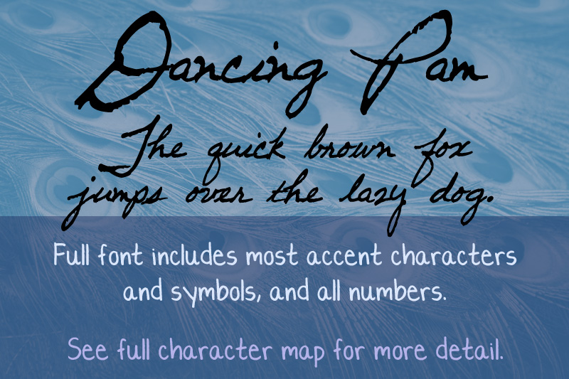 Dancing Pam font sample