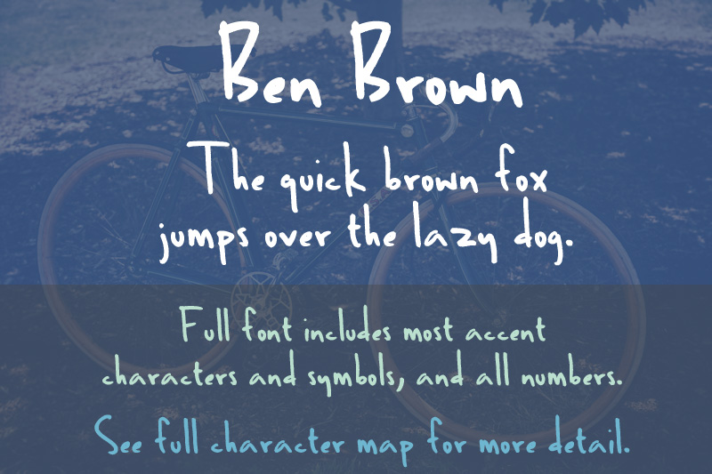 font-sample-ben-brown