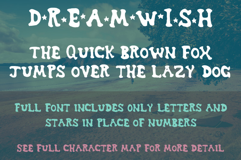 Dreamwish font sample