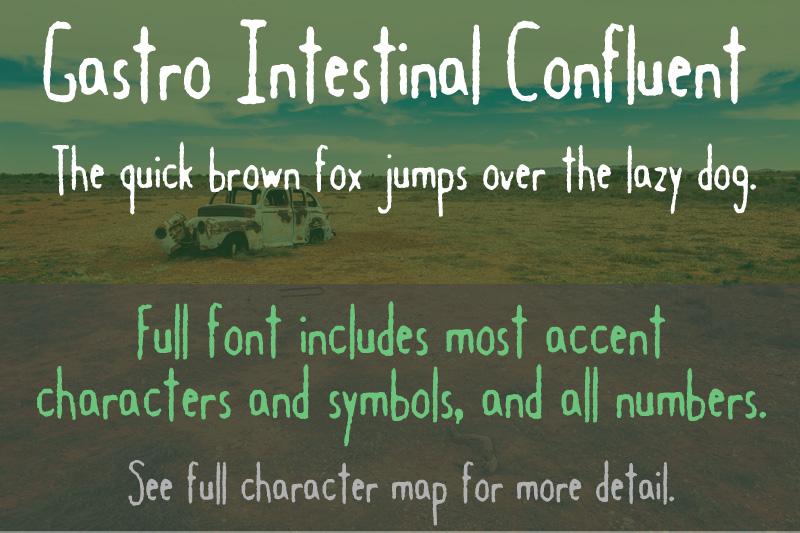 Gastro Intestinal Confluent font sample