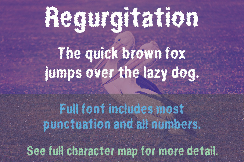 Regurgitation Font