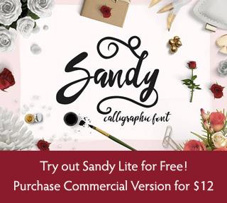 Sandy Calligraphic Font