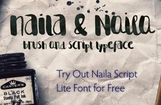Naila Script Font
